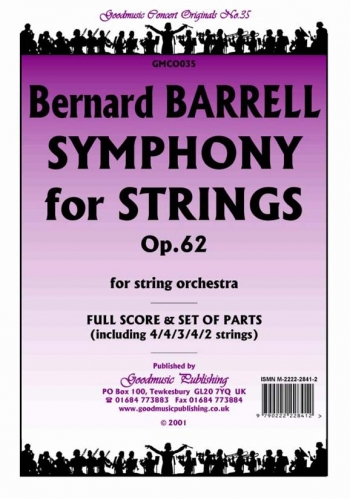 Orch/barrell/symphony For Strings Op62/string Orchestra/scandpts