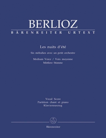 Les Nuits Dete: Medium Voice: Vocal Score  (Barenreiter)