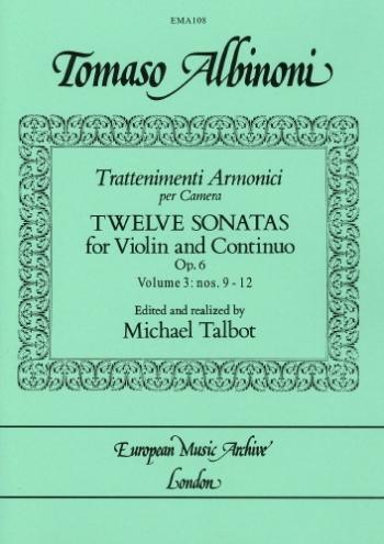 12 Sonatas Op.6 Vol.3: Violin & Piano (EMA)