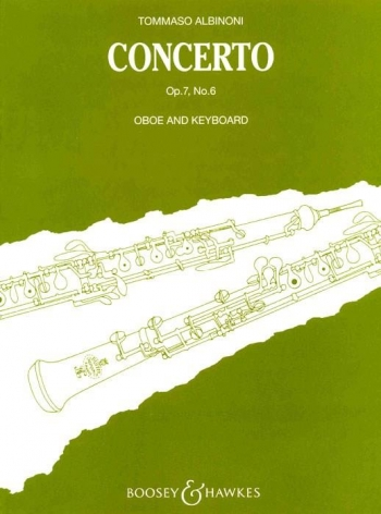 Oboe Concerto Op.7/6: Oboe & Piano (B&H)