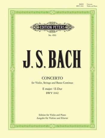 Concerto E Major No.2 Bwv 1042: Violin & Piano (Peters)
