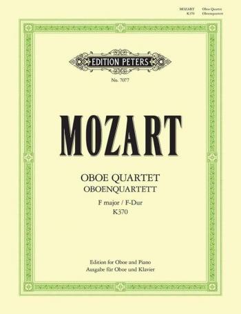 Oboe Quartet F K370: Oboe & Piano (Peters)