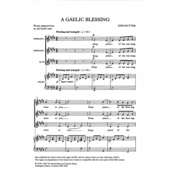 Gaelic Blessing: Vocal: SSA