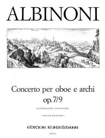 Oboe Concerto Op.7/9: Oboe & Piano  (Peters)