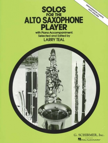 Solos For The Alto Saxophone Player: Alto Saxophpone & Piano (Teal)