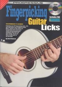 Progressive Fingerpicking Guitar Licks Book & CD (duncan)