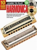 10 Easy Harmonica Lessons Teach Yourself: Book & CD & DVD