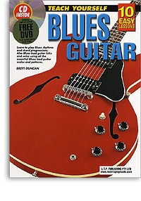 10 Easy Blues Guitar Lessons Teach Yourself: Book & CD & DVD