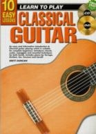 10 Easy Classical Guitar Lessons Teach Yourself: Book & CD & DVD