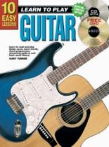 10 Easy Guitar Lessons Teach Yourself: Book & CD & DVD