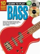 10 Easy Bass Lessons Teach Yourself: Book & CD & DVD