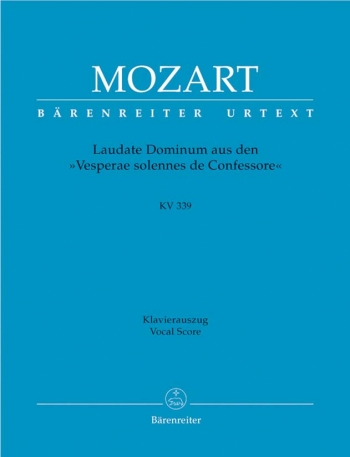 Laudate Dominum Kv339: Vocal: Satb  (Barenreiter)