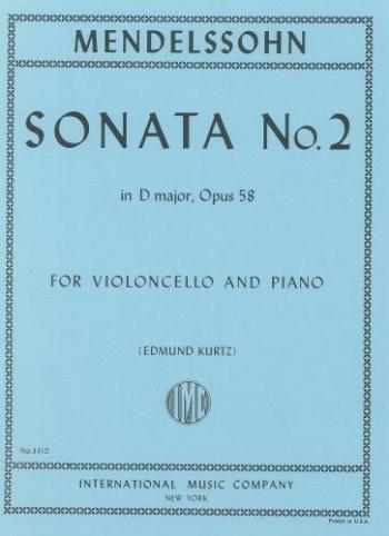 Sonata: D: Cello & Piano (International)