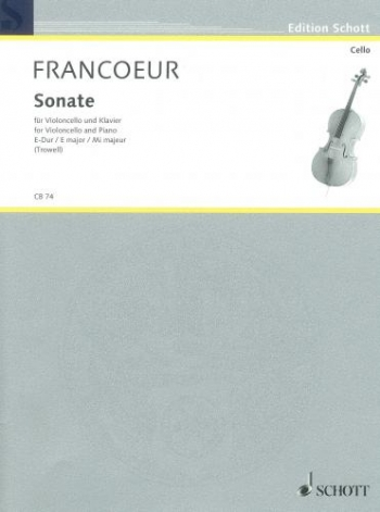 Sonata In E Major: Cello & Piano (Schott)