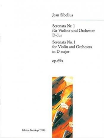 Serenata No1: D Major: Op69A: Violin and Piano (Breitkopf)