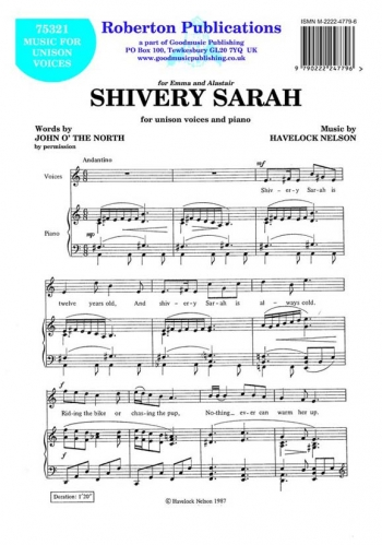 Shivery Sarah: Vocal: Solo