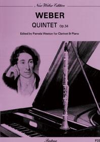 Clarinet Quintet: Op34: Clarinet & Piano (Fentone)