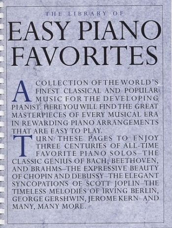 Library Of Easy Piano Favourites