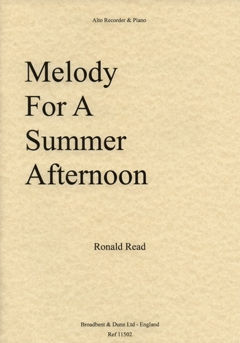 Melody For A Summer Afternoon: Alto Recorder and Piano