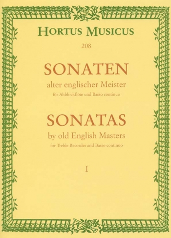 Sonatas By Old English Masters: 1: Treble Recorder and Piano