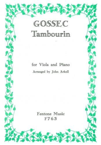 Tambourin: Viola and Piano (Fentone)