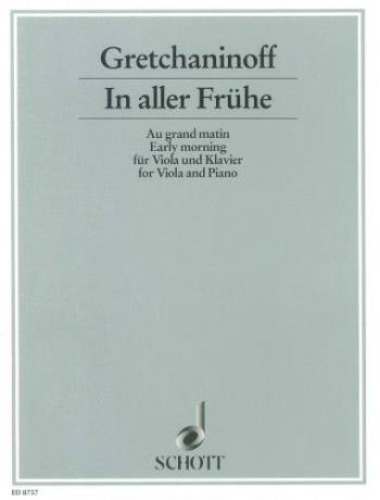 Early Morning: In Aller Fruhe: Viola and Piano