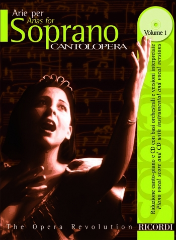 Various: Arias For Soprano Vol1 (Cantolopera) Soprano Voice And Piano: Book & Cd
