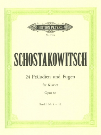 24 Preludes And Fugues Op.87: Book 1: Piano (Peters)