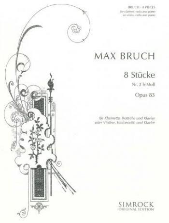 Bruch: Pieces 8 Op83 No2 B Minor: Trio: Cl: Vla: Pf