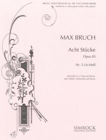 Bruch: Pieces 8 Op83 No3 In C#minor: Trio: Cl: Vla: Pf