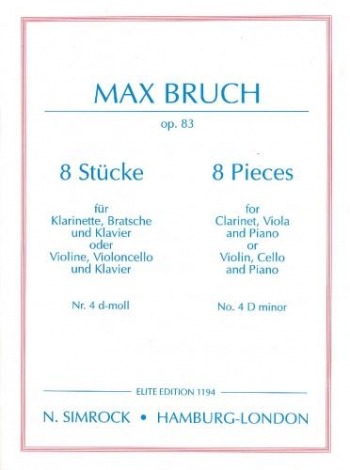 Bruch: Pieces 8 Op83 No4 In D Minor: Trio: Cl: Vla: Pf