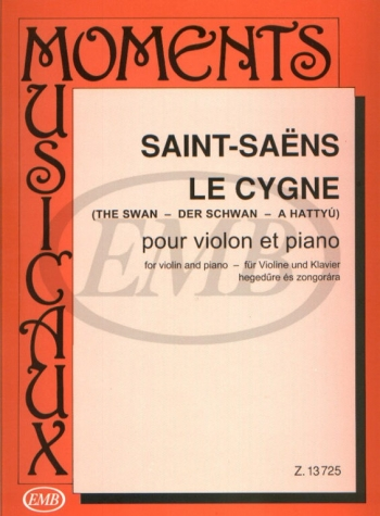 Le Cygne: The Swan: Violin and Piano