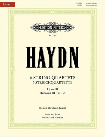 Haydn: 6 String Quartets Op20: String Ensemble: Score and Parts