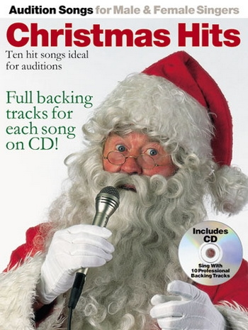 Audition Songs For Male & Female Singers: Christmas Hits: Piano Vocal Guitar: Book & Cd