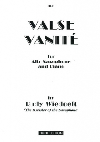 Valse Vanite: Alto Saxophone