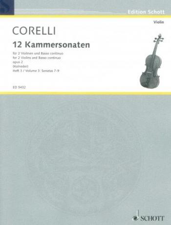 12 Sonatas : Vol3: Sonatas 7-9: 2 Violins and Piano