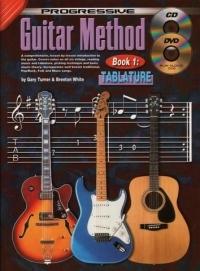 Progressive Guitar Method Tablature:  Book CD & DVD