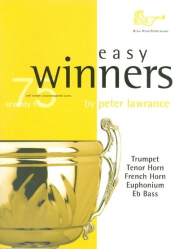 Easy Winners: Treble Brass: Trumpet Trombone Euph Or Baritone Treble Clef  Book & Cd