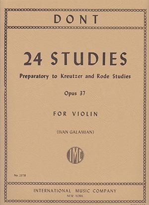 24 Studies: Op37: Violin