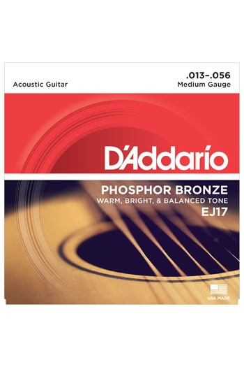 D'Addario Acoustic Guitar EJ17 Phospher Bronze Medium 13-56