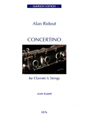 Concertino For Clarinet & Strings: Score & Parts