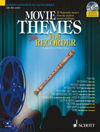 Movie Themes: Treble Recorder: Schott Master Play Along Series