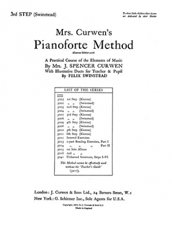 Mrs Curwen Piano Method: Step 3: Archive Copy