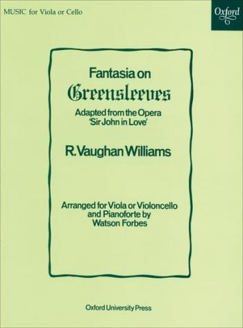 Fantasia On Greensleeves: Viola Or Cello & Piano (Oxford)