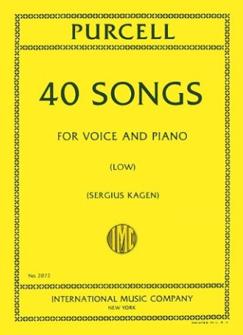 40 Songs: Low Voice And Piano (International)