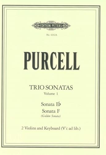 Trio Sonatas Vol 1 Sonata  In Eb &  F Golden: 2 Violins & Keyboard (Peters)