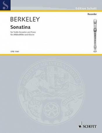Recorder Sonatina: Treble Recorder Or Flute And Piano  (Schott)