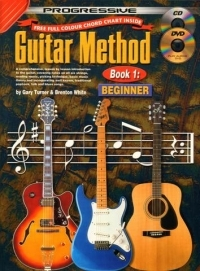 Progressive Guitar Method 1: Beginner : Book CD & DVD  (turner & White) (brown: A4)