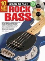 10 Easy Rock Bass Lessons Teach Yourself: Book & CD & DVD