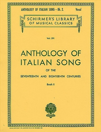 Anthology Of Italian Song: Book 2: 17th & 18th Centuries: Vocal
